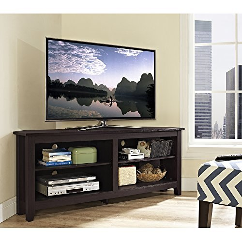 The Walker Edison Wood Corner TV Stand Comes Highly Rated, And While It May  Not Be The Most Aesthetically Pleasing Piece In This List, It Is Certainly  One ...