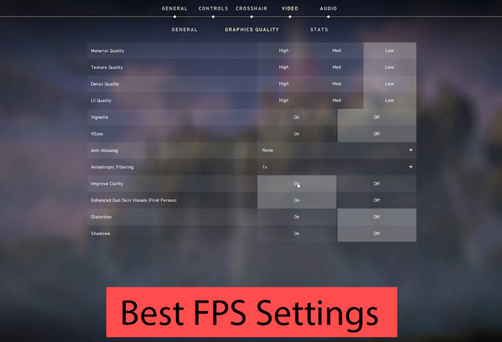 The Best Valorant High FPS Settings