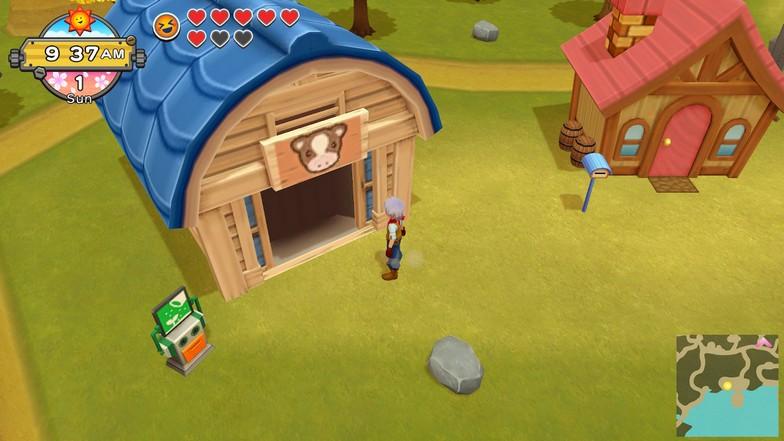 Animal Barn Upgrade in Harvest Moon One World